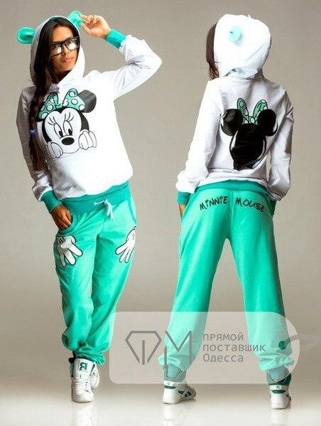 (Sweatshirt + Pant)  Woman Tracksuits 2 Piece Set Cotton Fleece Sportwear For Women Hoodies Sweatshirt