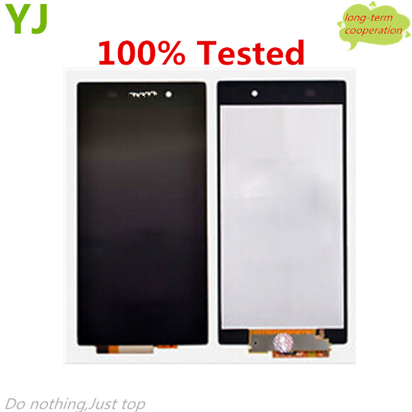 HK free shipping 100% Tested for For Sony Xperia Z1 L39h LCD Assembly with Touch Screen Digitizer without Frame White/Black