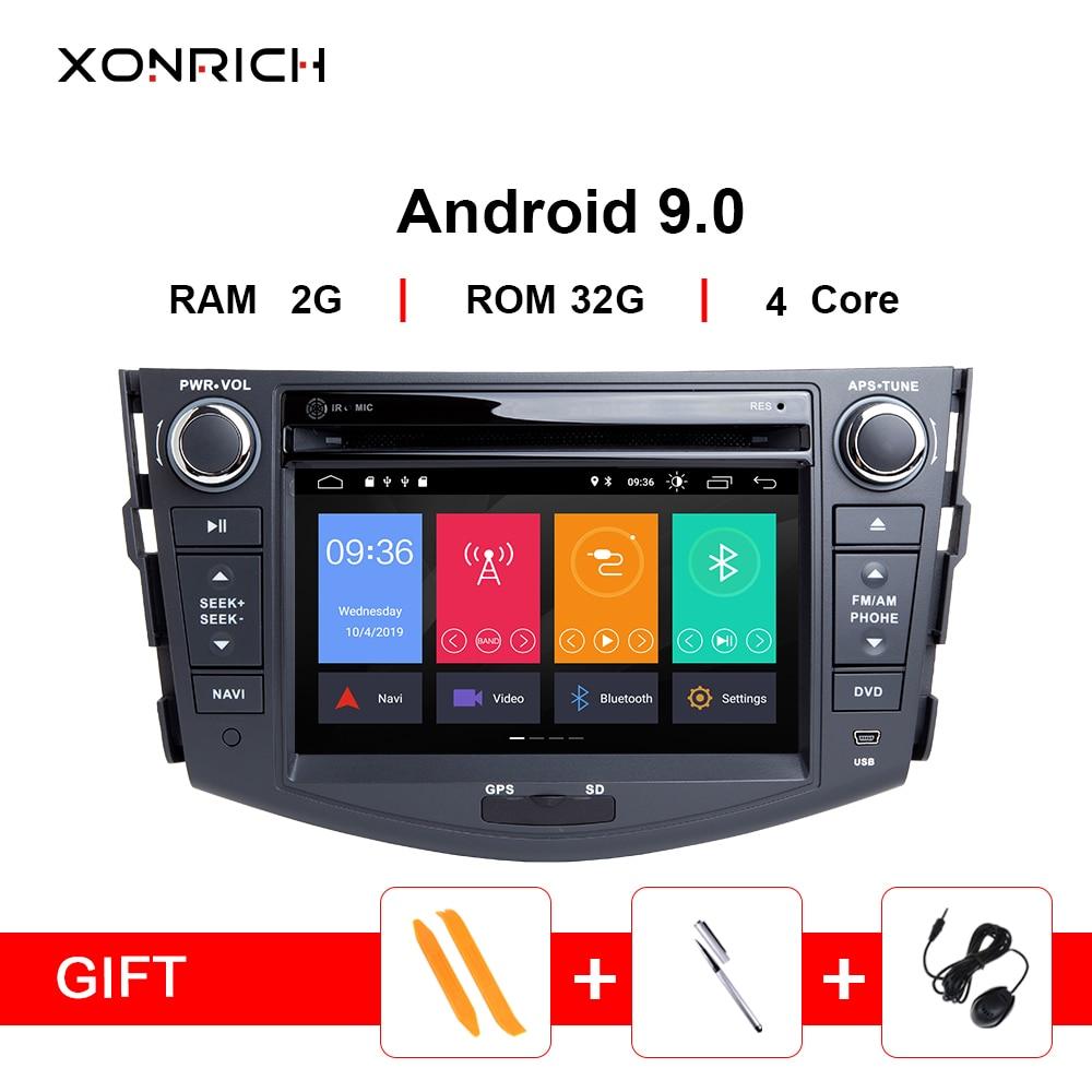 Android 9.0 Car DVD Player For Toyota RAV4 Rav 4 2007 2008 2009 2010 2011 2012 Autoradio 2 din 1024*600 GPS Navigation Wifi OBD2