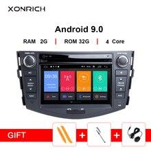 Android 9,0 Автомобильный DVD плеер для Toyota RAV4 для Toyota Previa Rav 4 2007 2008 2009 2010 2011 2012 2 din 1024*600 gps навигацией, Wi-Fi, OBD2
