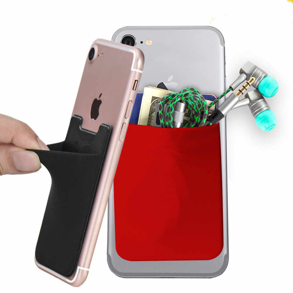 Removable Phone Stick-on Universal Case Slim Pocket Credit Mini Pouch Card Holder Adhesive Wallet Phone Back