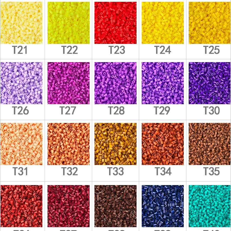 500pcs 2.6mm EVA Hama Beads / Perler PUPUKOU Toy Kids Fun Craft DIY Handmaking Fuse Bead Creative Intelligence Educational Toys