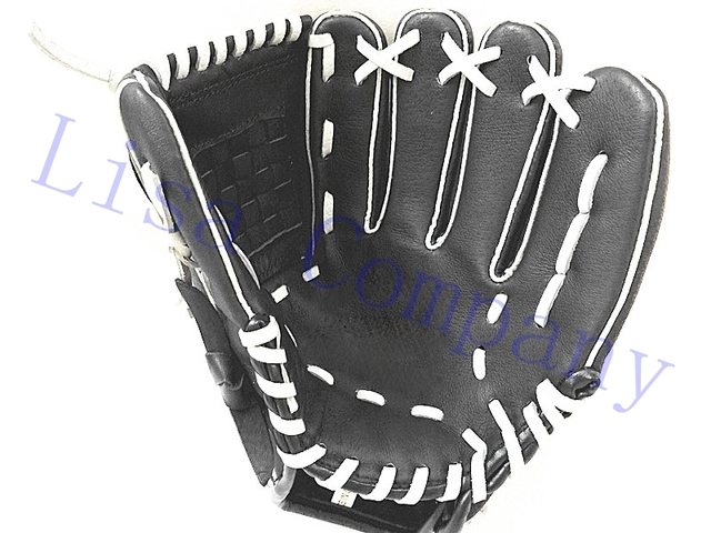 black colour children adult left and right hand high quality baseball glove non-slip super soft wear-resisting 1