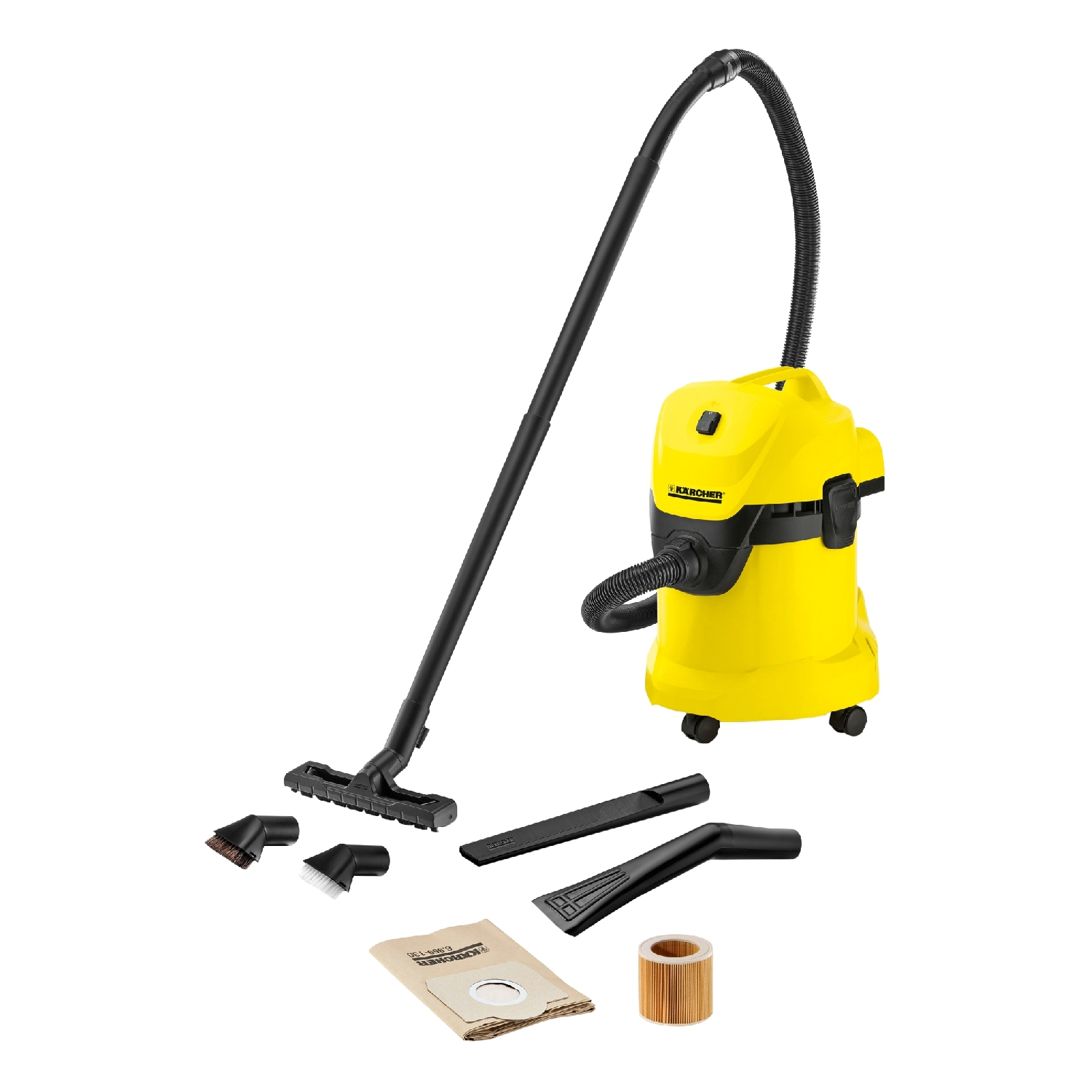 Vacuum cleaner wet and dry vacuum cleaner KARCHER WD 3 Car Vac (Power 1000 W, tank 17 L, set of nozzles) vacuum cleaner wet and dry karcher ad 4 premium eu ii