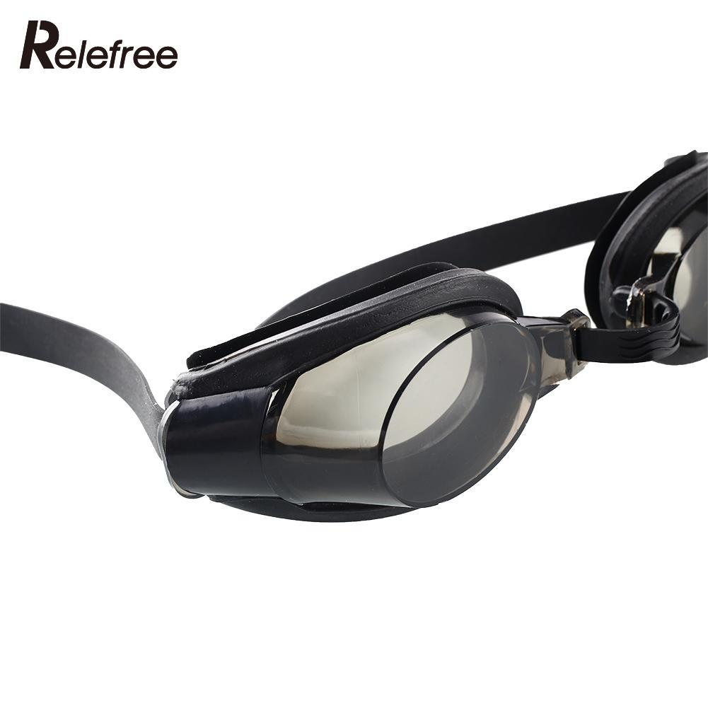 71e874fa6c48 Relefree Portable Black Protect Nose Clip +Ear Plug +Anti fog UV Swimming  Goggle Adjustable Diving Glasses-in Swimming Eyewear from Sports    Entertainment ...