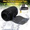 Home DIY Fiber Fix Wrap Adhesive Tape Sealers Black Strong Adhesive Household Repair Tools For Repairing Pipeline Table Foot