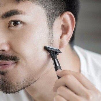 Xiaomi Huanxing 5-layer Blade Manual Razor Set Men Kit German importing Shaving head lemon Shaving bubbles 5