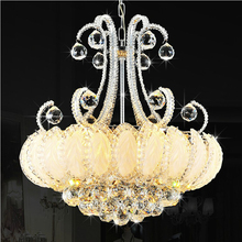 Modern Gold Crystal Chandelier Lighting Fixture Silver Gold Crystal Chandeliers Lamparas Home Indoor Hotel Restaurant LED Light traditional crystal chandeliers lighting gold palace light luxury hotel lamp for restaurant diameter40cm guaranteed100% 9052