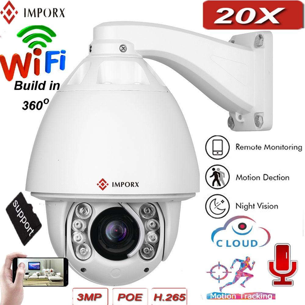 IMPORX PTZ caméra IP 3MP 20X caméra de surveillance HD caméra de sécurité extérieure Wifi IR 150 M suivi automatique dôme Vision nocturne CCTV