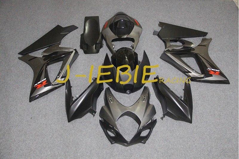 Gray Injection Fairing Body Work Frame Kit for SUZUKI GSXR 1000 GSXR1000 K7 2007 2008