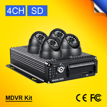 Free DHL vehicle DVRS Kit H.264 Digital Video PC Play Back,Backup,4 Channel Truck /Bus Security DVR Kit