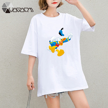 Summer Clothes Women Casual Funny Donald Duck Mouse Cartoon Tops Tshirt Short Sleeve Tees Big Plus Size T Shirts