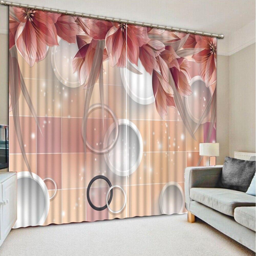 Simple window curtains - Curtains Luxury Custom 3d Curtains Creative Simple Circle 3d Window Curtains Modern Christmas Window Curtains For