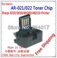 AR-021ST-C Тонер Чип Для Sharp AR-3020D/3818N/4021/4818 S/4821D Ксерокс Картридж, Для Резкого AR 021 C 4818 4821, Бесплатная Доставка
