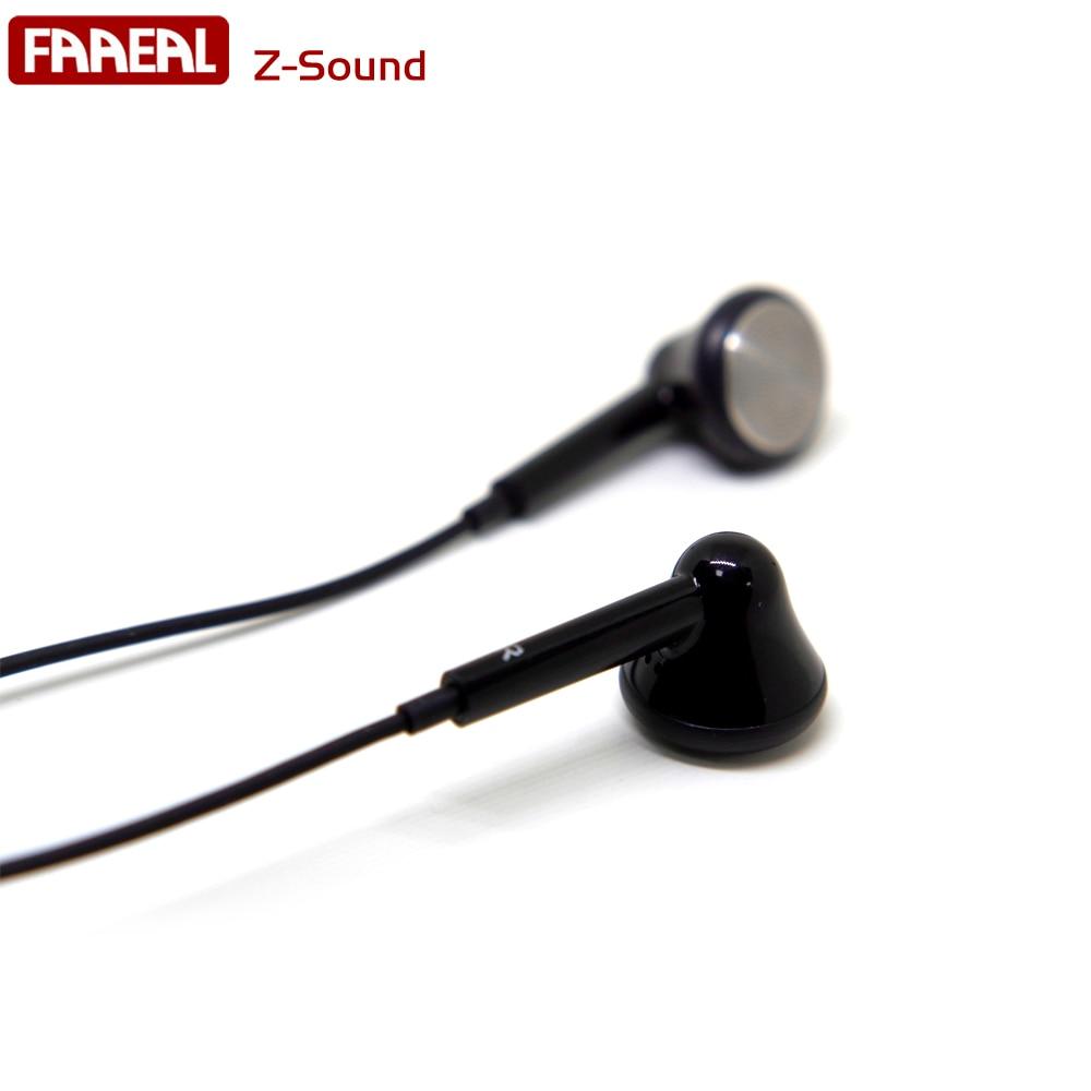 Newest FAAEAL Z-Sound 32Ohm Small-Bun DIY In-ear Earphone Earbud Dynamic Flat Head Plug Earbud HIFI Bass Earbud For MP3 player original senfer dt2 ie800 dynamic with 2ba hybrid drive in ear earphone ceramic hifi earphone earbuds with mmcx interface