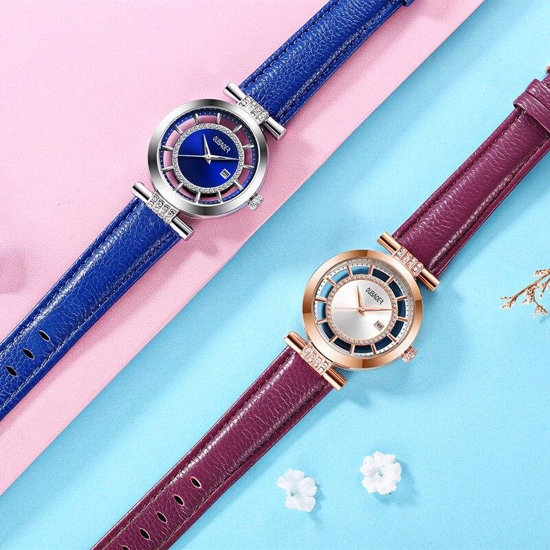 2018 New OUBAOER Top Brand Ladies Quartz Wristwatch Business Watches Women Fashion Clock Watch Gift For Women Montre Femme in Women 39 s Watches from Watches