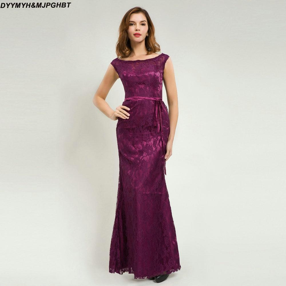 Vintage Wedding Party Dresses: Vintage Lace Mother Of Bridal Dresses Scoop Neck Floor