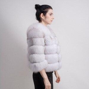 Image 2 - QIUCHEN PJ1801 2020 nouveauté femmes hiver réel manteau de fourrure de renard épais fourrure femmes veste dhiver livraison gratuite