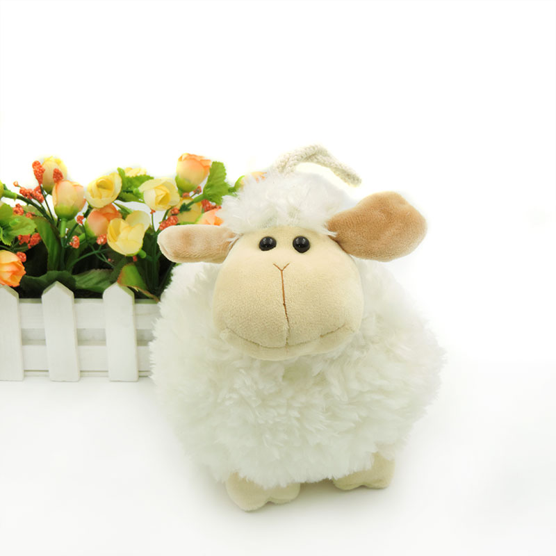 Small Cute Sheep Animals Stuffed Kids Toys Plush Lamb White Ball Shaped Lambs Soft Toy for Children Gifts Baby Room Decor 20cm ty collection beanie boos kids plush toys big eyes slick brown fox lovely children gifts kawaii stuffed animals dolls cute toys