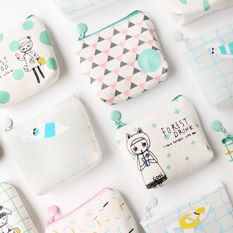 16pc/lot Lovable Cute Canvas Silicone Mini Purse /fashion Coin Storage Pencil Bag / Hand Wallet / Key /headset Bag/pouch Beneficial To Essential Medulla