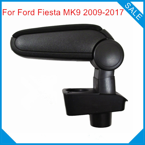 Free Shipping FOR FORD FIESTA MK7 2009-2017 Car ARMREST,Car Interior Accessories auto parts Center Armrest Console Box Arm Rest 1pc car center console armrest box sticker decal wrap guard protector cover for tesla model s model x auto interior accessories