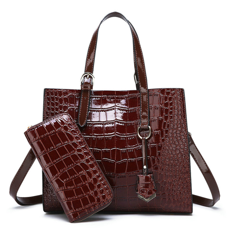 Women Famous Brand Crocodile Lether Shoulder Bags Lady Large Capacity Crossbody Hand Bag Sac A Main