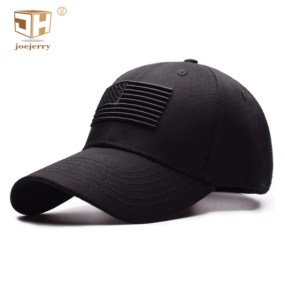 JOEJERRY Embroidered Baseball Caps USA For Men Female American Flag Caps High Quality Black Hat