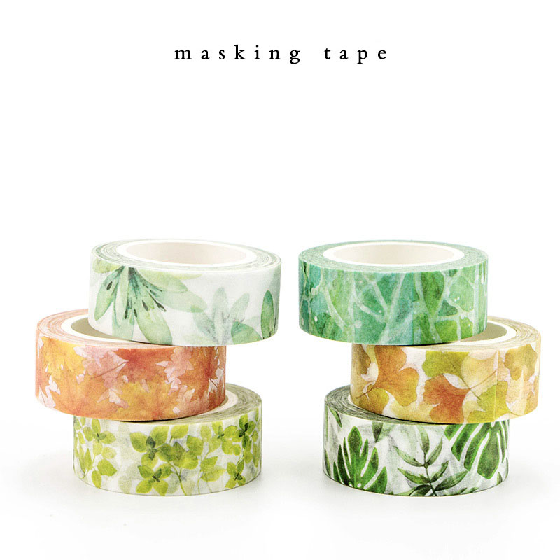 MIRUI Cute Kawaii Plants Flowers Japanese Masking Washi Tape Decorative Adhesive Tape Decora Diy Scrapbooking Sticker Stationery