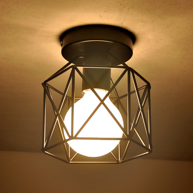 Rétro Platfond Plafond Lumi¨res Fer Art Lampe De Plafond Vintage