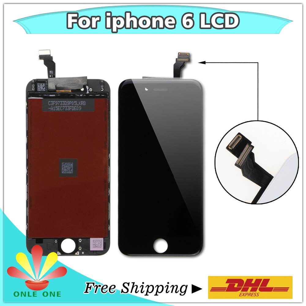 10 pcs Lot Touch Screen and LCD Display Digitizer for iPhone 6 6G Free shipping
