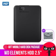 Western Digital WD Elements Portable disque dur Externe 500 gb 1 tb 2.5 USB 3.0 Disque Dur Disque 2 tb 4 tb D'origine pour PC ordinateur portable(China)