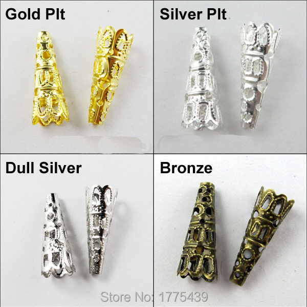 500pcs silver//gold//bronze plt snap on bail loops Pendant bails jewelry findings