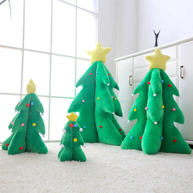 Glowing Christmas Tree Green Plants Stuffed Plush Toy Xmas Holiday Light Up Decor Pillow Home Sofa Kids Gift 33/55/85cm