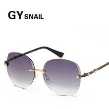 GY SNAIL2017 Rimless Vintage woman Sunglass Female eyewear colourful lens Retro Fashion Driving Summer Oculos Feminino uv400