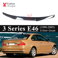E46 Real Carbon Spoiler Gloss Black Spoilers for BMW 3 Series Carbon Fiber M4 Style Trunk Wings Car Styling 1998 2005