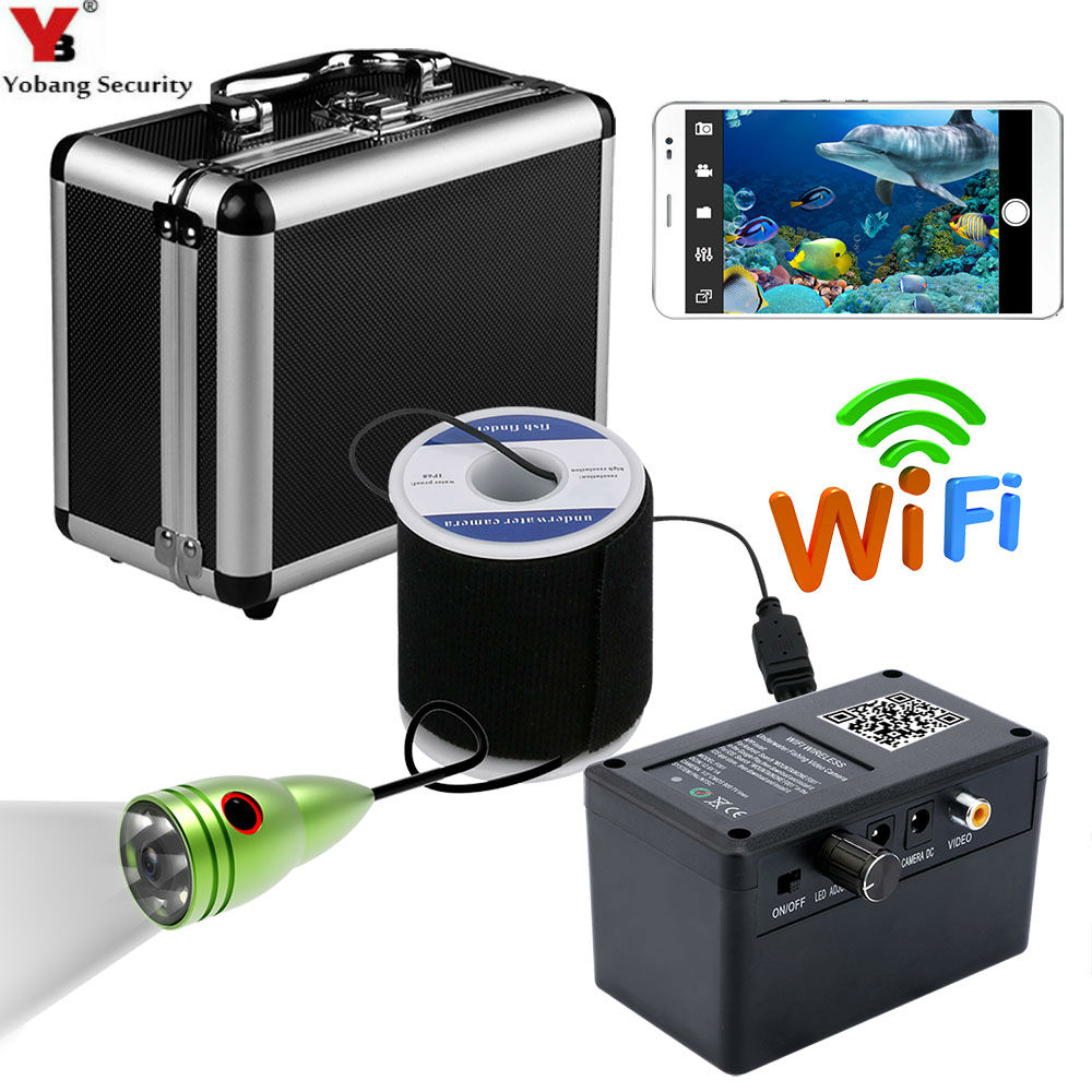 Yobang Security WIFI APP Underwater Video Ice/Sea Fishing Camera Video Record Take Photo 1000Tvl Fishfinder Surveillance Camera