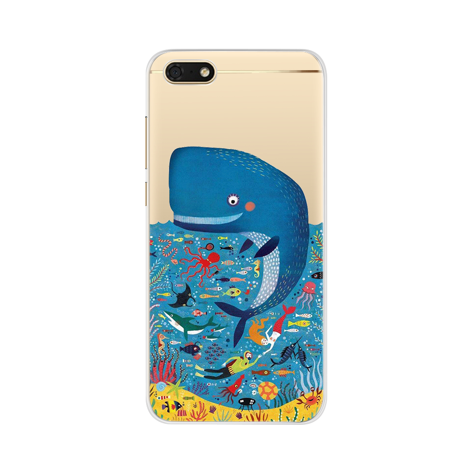 Silicone Case For Huawei Y5 2018 5 45 Inch Soft TPU Phone Case For Huawei Y 5 Y5 Prime 2018 Cover on Huawei Y5 Lite 2018 DRA LX5 in Fitted Cases from Cellphones Telecommunications