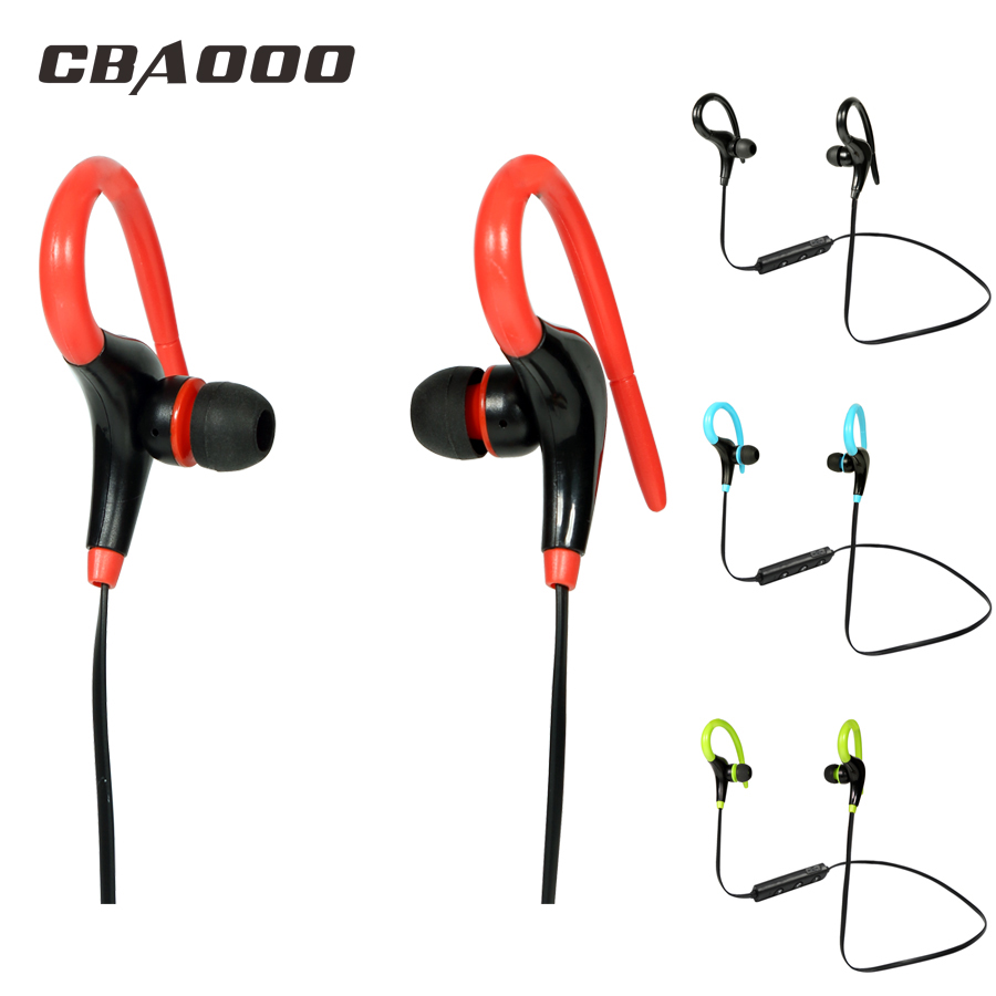 CBAOOO Bluetooth Earphone Wireless Bluetooth Headset Ear hook Sport Headphone apt-x Stereo With MIC for iPhone xiaomi phone skhifio bluetooth earphone wireless headphone with mic stereo in ear sport headset earbuds music earphones for phone iphone
