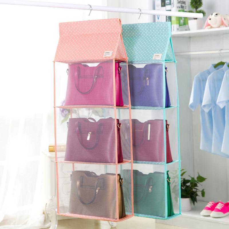 Fashion 3 4 Pockets Big Size Hanging Storage Bag Tote Bag Storage Organizer  Closet Rack Hangers Women Handbag Holder In Storage Bags From Home U0026 Garden  On ...