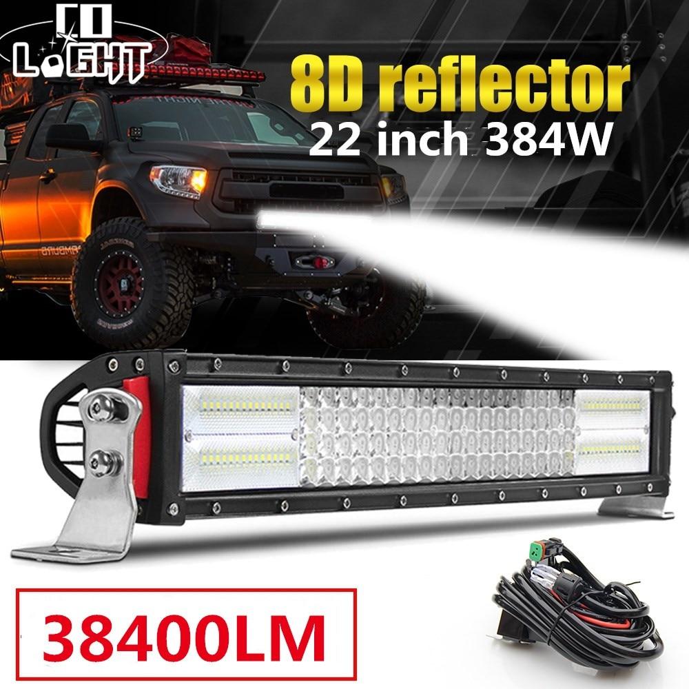 CO LIGHT 4 Row LED Light Bar 8D 22 384W Offroad Led Bar Combo Led Work