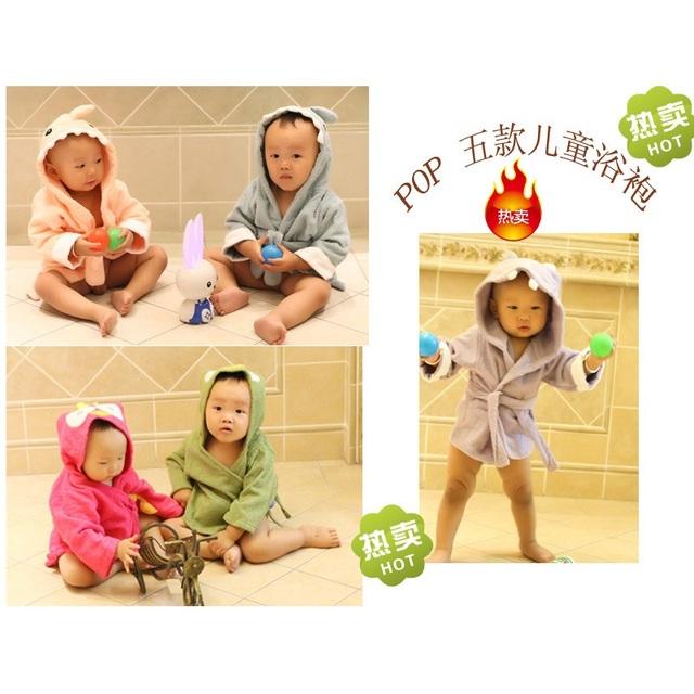 Animal Bonito Do Bebê Roupão de Banho de Terry Toalhas De Banho Recém-nascidos Cobertores Infantis material do bebê Roupão de Banho Com Capuz