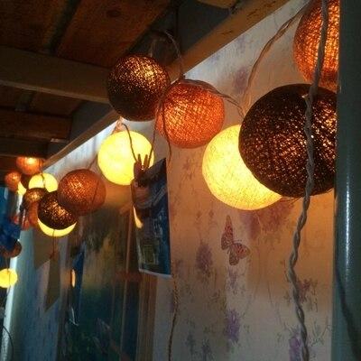 Children room tent Halloween Christmas party lantern. Warm lighting. Thailand bright lights line ball lamp.