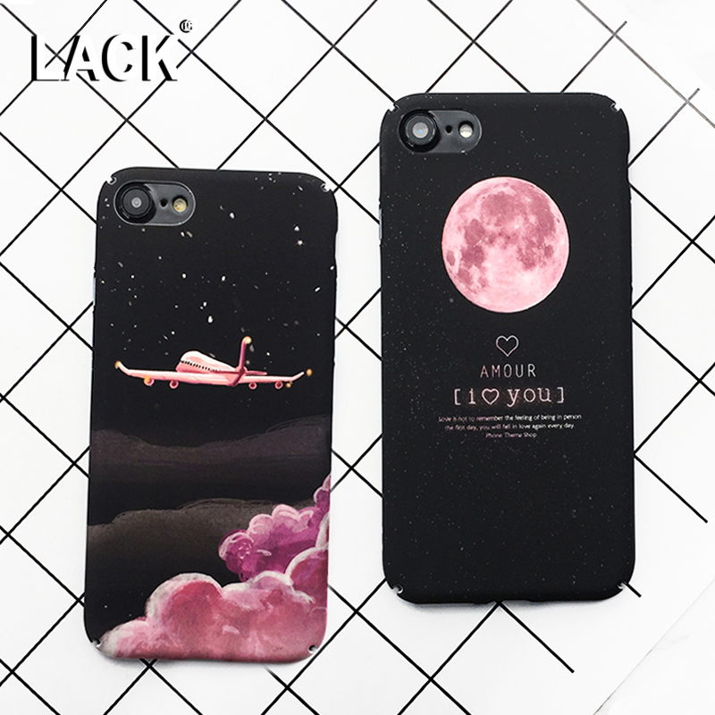 Lack espacio moda lunas cartoon case para iphone 7 case lindo candy cajas del te