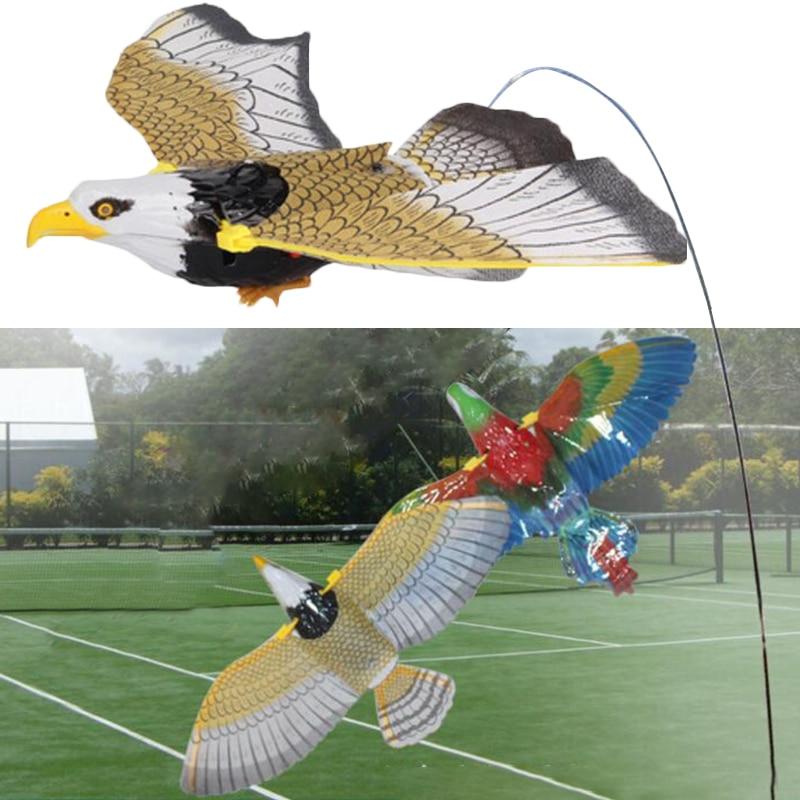 Электрическая летающая игрушка для птиц, подвесная проволочная хлопающая Орел, пластиковая Рождественская игрушка