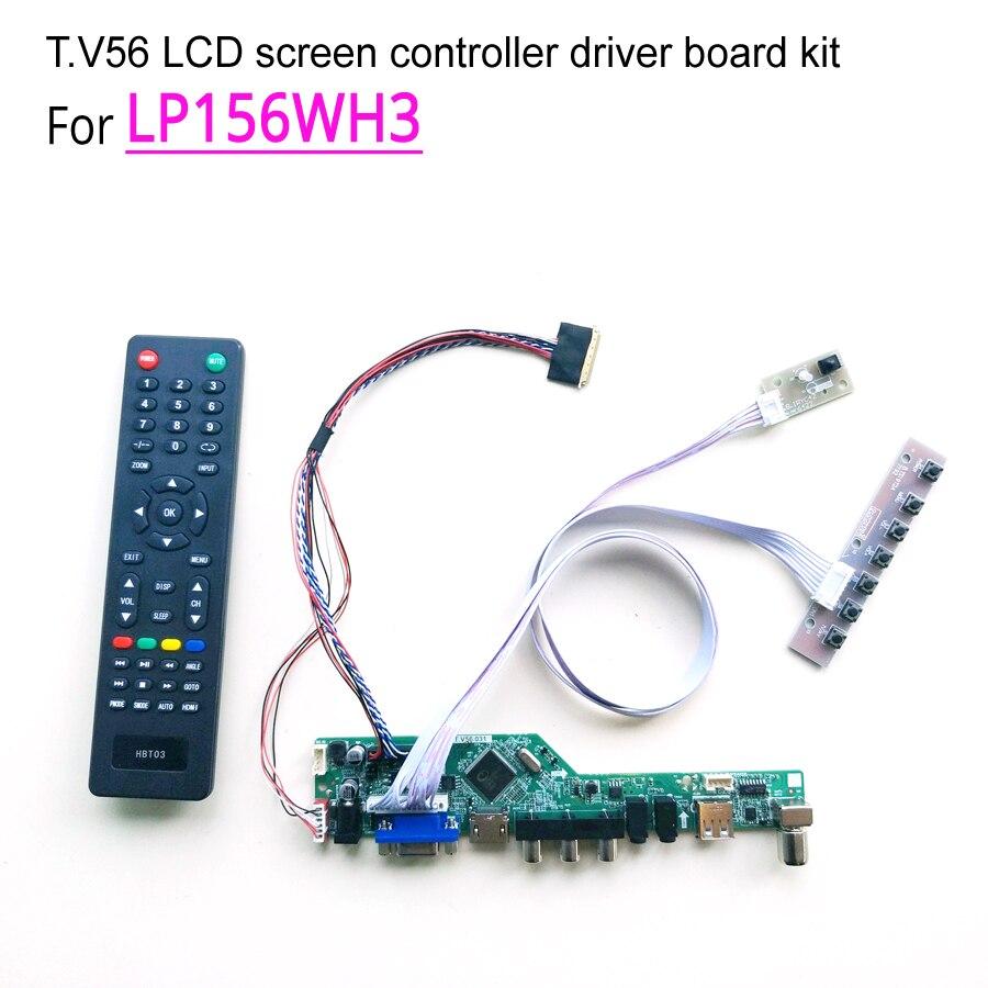 "For LP156WH3 laptop led lcd monitor T.V56 screen controller driver board DIY kit HDMI/VGA/AV/USB 15.6"" LVDS WLED 1366*768 40 pin(China)"
