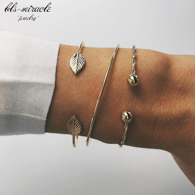bls-miracle vintage gold color top Newest Fashion accessories tie bracelet for w