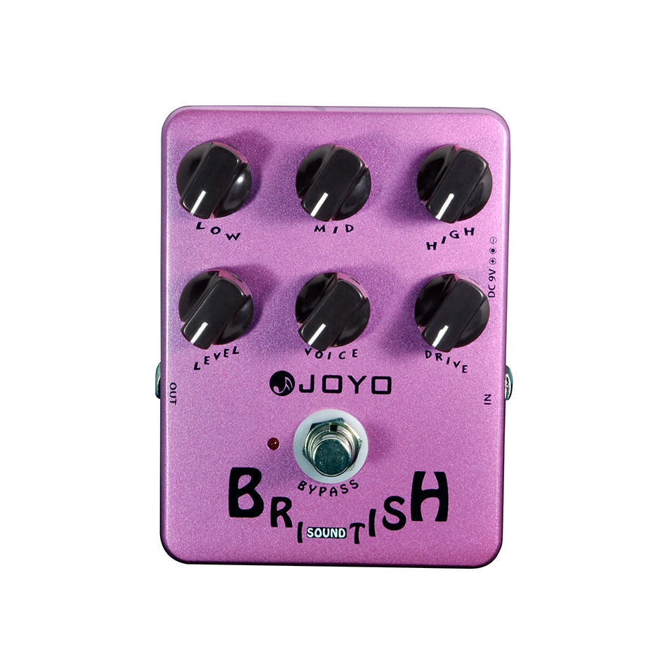 JOYO JF-16 British Sound Overdrive Electric Guitar Effect Pedal Speaker Simulator Effect Pedal Stompbox True Bypass joyo jf 16 bypass design brithish sound guitar effect amplifier simulator pedal purple