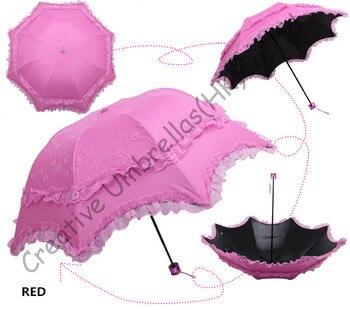 Double layers,UPF>50+ Arched Korea Parasols,black coating  2 times,sunshade,silk embroidery,bag parasol,mixture UV protecting