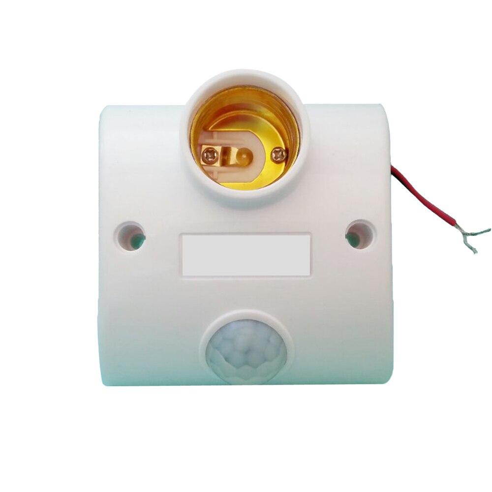 E27 Infrared #V Motion PIR Sensor Automatic LED Lamp Holder Switch 90-250V Adjustable e27 led pir motion sensor lamp holder ac 180 240v