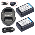 2 Pcs NP-FW50 FW50 NP baterias + Dual USB Charger para Sony NEX-5 NEX-5A NEX-5C NEX-5D NEX-5DB NEX-5HB NEX-5K Alpha 7R II câmera